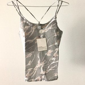 Grey Abstract Pattern Camisole